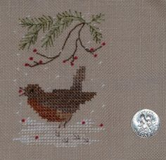 Tomatoes for Apples: Christmas Robin by Victorial Sampler