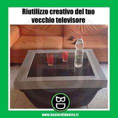 #riciclo creativo! #bastardidentro #televisione #ipnoticamentebastardidentro www.bastardidentro.it