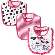 Amazon.com: Gerber Baby-Girls Newborn 3 Pack Girl Terry Dribbler Bib,... (€7,07) ❤ liked on Polyvore featuring kids