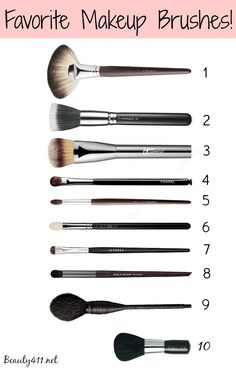 Favorite Makeup Brushes...a good brush makes all the difference!