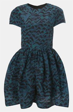 Topshop Abstract Print Silk Tulip Dress