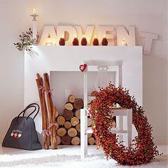 """Buchstaben-Set """"ADVENT"""" aus Holz in Used-Optik.  #Advent #Weihnachten #Deko #Impressionenversand"""