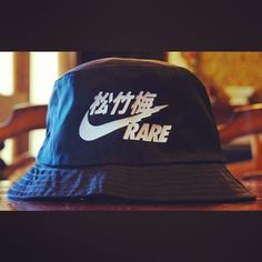 Vintage Very Rare Air Nike Japan VTG BUCKET HAT One Size Fits Most ,White RARE
