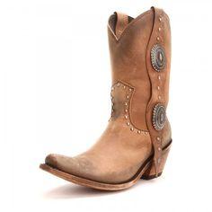 Liberty Black Womens America Narrow Square Toe Cowboy Boots Tan