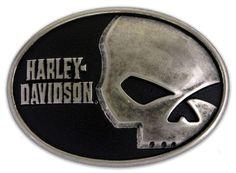 Harley-Davidson® Mens Collector Belt Buckle Skull Font. M10071