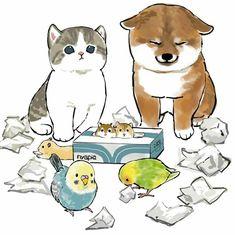 Cute Animal Drawings Kawaii, Cartoon Drawings, Kitten Drawing, Inspiration Artistique, Cute Little Kittens, Cute Couple Art, Dibujos Cute, Cat Cards, Animal Sketches