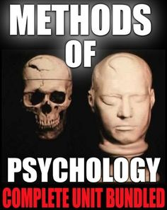 Methods Psychology Unit 2 includes Method of Psychology Powerpoints with presenter notes, worksheets, warmups, review crossword, an ESP activity, review video/guide, assessment and daily lesson plans. This unit has everything you need to teach all about the second unit of psychology.