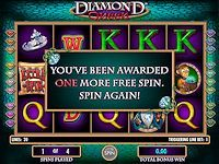 Diamond Queen is a 20 line, 5 reels slot game with a free spins bonus feature. This slot game offers both a wild and a scatter symbol.