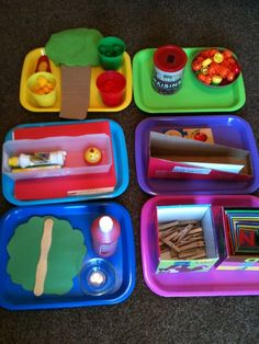 tot tray weekly theme ideas