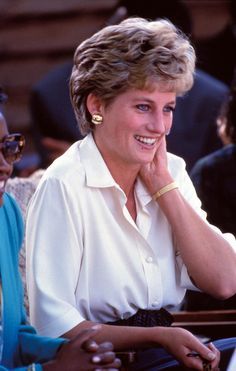 13 July 1993 Princess Diana Tongorara Refugee Camp Zimbabwe Tour Photo by Dave Chancellor-alpha-Globe Photos