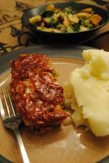 Paula Deens Meatloaf-- I have a thing for meatloaf and this is our favorite recipe! If you use lean beef, it's pretty healthy too!-- NW