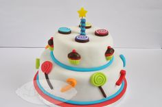Sweet Cake - Tarta de fondant churches