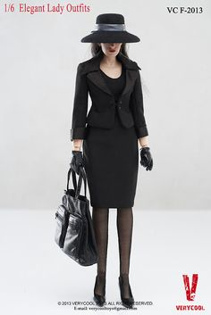 toyhaven: Check out Very Cool 1/6 scale Elegant Lady Outfit Set (Selina Kyle/Catwoman in a dress)