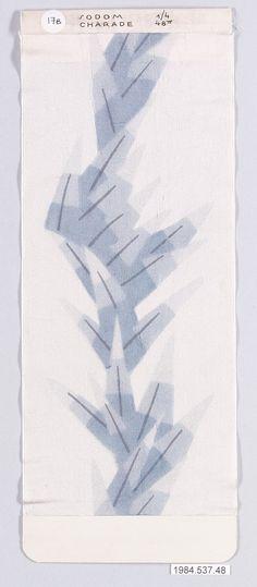 fabric design by Dagobert Peche for Wiener Werkstätte, ca. 1920