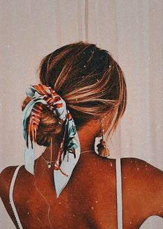 Cute Hairstyles For Teens, Teen Hairstyles, Scarf Hairstyles, Summer Hairstyles, Pretty Hairstyles, Girls Hairdos, Holiday Hairstyles, Braided Hairstyles, Wedding Hairstyles