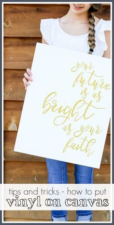 The Secret to putting Vinyl on Canvas - this works! - Sugar Bee Crafts : The Secret to putting Vinyl on Canvas - this works! Diy Art Projects Canvas, Diy Canvas, Vinyl Projects, Canvas Art, Circuit Projects, Vinyl Crafts, Canvas Ideas, Canvas Letters, Diy Letters