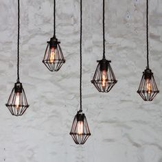 Manufactured in Ireland, this quirky cage light factory pendant is ideal for use in industrial and minimalist interiors.
