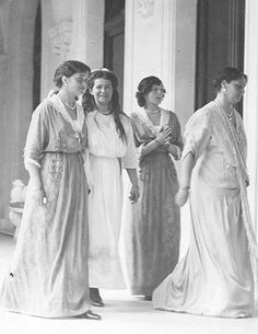 The Empress with her oldest three daughters (Olga, Maria & Tatiana)