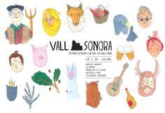 Vallsonora. Festival de música i cultura a la Vall d'Àger. 19 i 20 juliol de 2013  Il·lustració: AL/MA (http://almaypunto.com/)