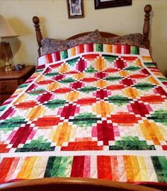 Log Cabin Quilts, Sewing Projects, Quilting, Blanket, Bed, Beautiful, Home, Scrappy Quilts, Stream Bed