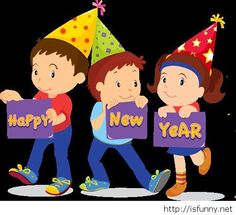 kids happy new year funny picture