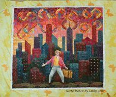 Cathy Geier's Quilty Art Blog: Gotta Dance - Quilting Done - Whew!
