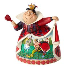 Celebrate the anniversary of Alice In Wonderland with this Queen of Hearts figurine. Designed by award winning artist and sculptor, Jim Shore, for the Disney Traditions brand, it's styled to look hand-sculpted. Alice In Wonderland Figurines, Film Alice In Wonderland, Adventures In Wonderland, Walt Disney, Deco Disney, Disney Love, Disney Stuff, Cinderella Disney, Disney Girls