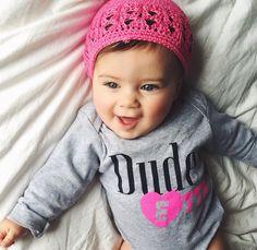 Dudette onesie by Little Dude N' Dudette