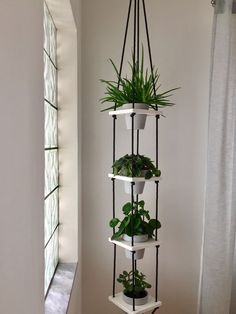 16 Ideas to decorate with plants your department - Modern House Plants Decor, Plant Decor, Home Decor Furniture, Diy Home Decor, Plantas Indoor, Flower Pot Design, Decoration Plante, Plant Shelves, Decoration Inspiration