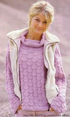 Розовый свитерок (без описания, только схема). Обсуждение на LiveInternet - Российский Сервис Онлайн-Дневников