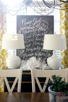 Changing The Artwork In Our Entry (Lindsay Letters Holiday Collection) - Emily A. Whatever Blog, Lindsay Letters, Pretty Handwriting, Living Room Decor Furniture, Devine Design, Event Signage, Inspiration Wall, Art Decor, Home Decor