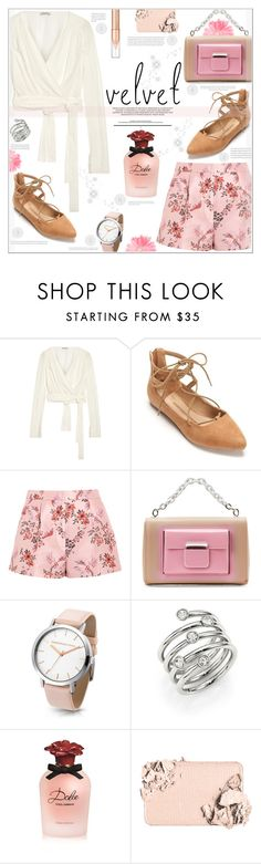 """""""Ivory Velvet"""" by suzanne228 ❤ liked on Polyvore featuring Attico, New Directions, STELLA McCARTNEY, Balenciaga, Michael Kors, Dolce&Gabbana and Too Faced Cosmetics"""