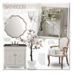 """Shabby Bathroom Decor"" by alexandrazeres ❤ liked on Polyvore featuring interior, interiors, interior design, home, home decor, interior decorating, Savoy House, Home Decorators Collection, Bellaterra Home and Peacock Alley"