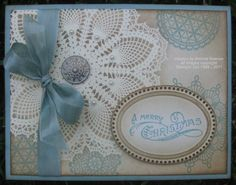 Gorgeous card from stampinconnection.com  I can see this doily stamp from Stampin' Up! will be too good to pass up!
