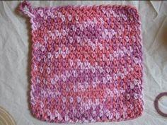Crochet Stitches - Mesh Wash Rag Tutorial