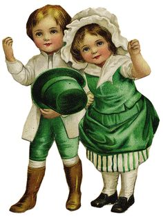 The Cottage Market: Free Graphic St. Patrick's Day Vintage Children