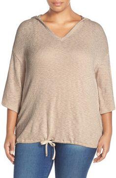 Shop Now - >  https://api.shopstyle.com/action/apiVisitRetailer?id=518910821&pid=uid6996-25233114-59 Caslon Blouson Pullover Hoodie (Plus Size)  ...
