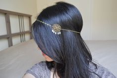 Headband bijoux de cheveux mariage nacre bronze e blanc : Accessoires coiffure par hoa