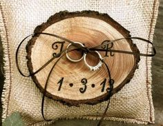 Rustic Wedding Ring Bearer Pillow ... Wedding ideas for brides, grooms, parents & planers ... https://itunes.apple.com/us/app/the-gold-wedding-planner/id498112599?ls=1=8  ... plus how to organise your entire wedding ... The Gold Wedding Planner iPhone App ♥