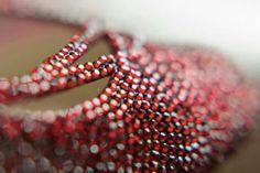 Be bold, be noticed!  (www.elliewren.com) #customweddingshoes #redweddingshoes #rhinestoneweddingshoes