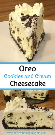 This Oreo Cookies and Cream Cheesecake combines chocolate Oreo cookies and cream cheese to make a great tasting cheesecake recipe. It is then topped with a homemade whipped cream to make this dessert a real crowd pleaser!
