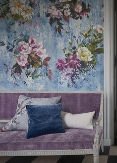 Aubriet Slate blue wallpaper | Designers Guild
