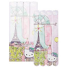 Hello Kitty Mon Amour Nail Files Set	 decorated with whimsical illustrations of Paris.