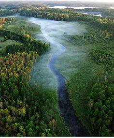 Krutynia River. Mazuria Region. Poland. Magic land of 1000 lakes.