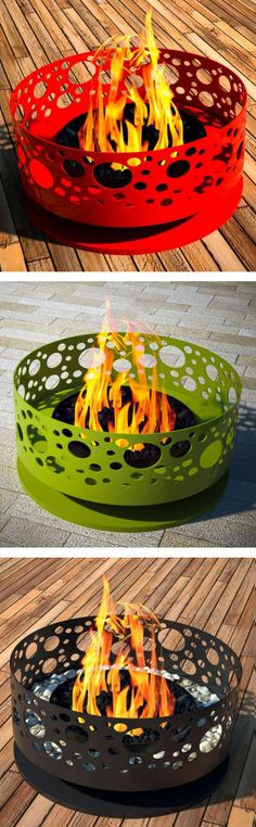 Steel Bubble Outdoor Fireplace