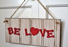 Distressed Wooden Love Sign