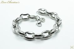 """""""Jessica""""   #Nautical Style #Stainless #Steel Links #bracelet by #LoveChristines #love #etsy #fashion,"""