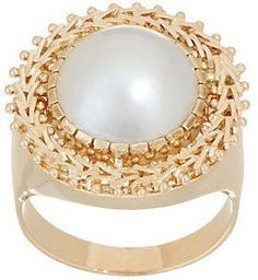 Imperial Gold Cultured Mabe Pearl Ring, 14K Gold