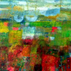 ARTFINDER: Knee Deep in Colour by Imogen Skelley - A walk through the fields in the middle of the day. The flowers are all around you and the view is spectacular as far as the eye can see, right to the sky wh...