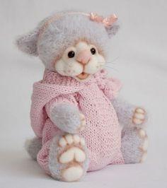 МК вязаный комбинезон, одежда для куклы, мишка тедди, одежда для мишки, кошка тедди, друзья тедди